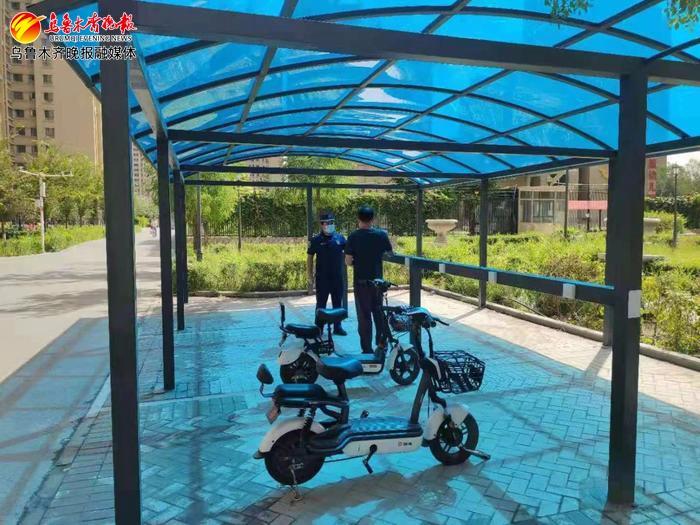 小区里的电动自行车充电桩建成啦